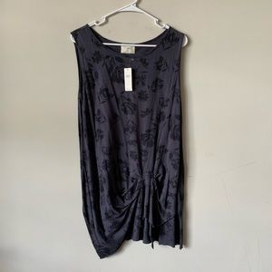 Anthropologie floral flowy sleeveless blouse (BS)
